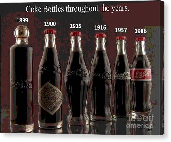 Coke Through Time Canvas Print