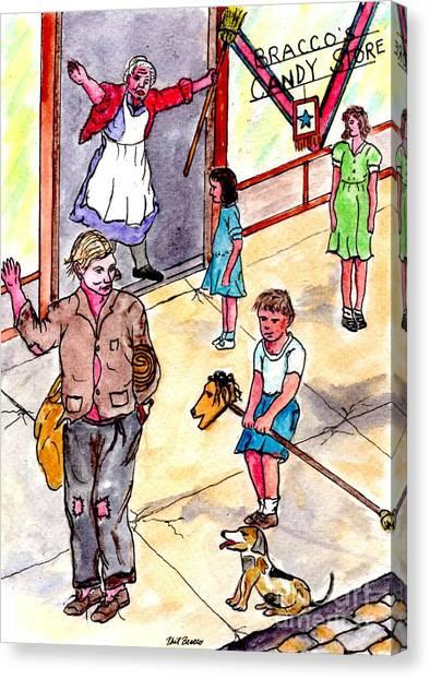 Cokkarella The Local Bum Saluting A Stray Dog Heil Hitler Canvas Print