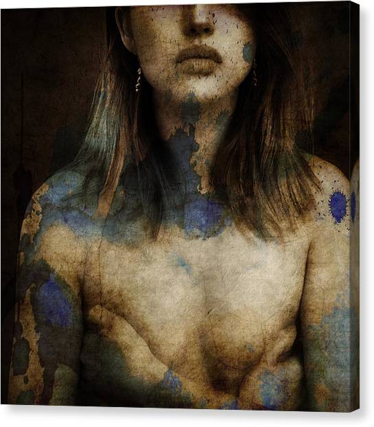 Nude Canvas Print - Cold As Ice  by Paul Lovering