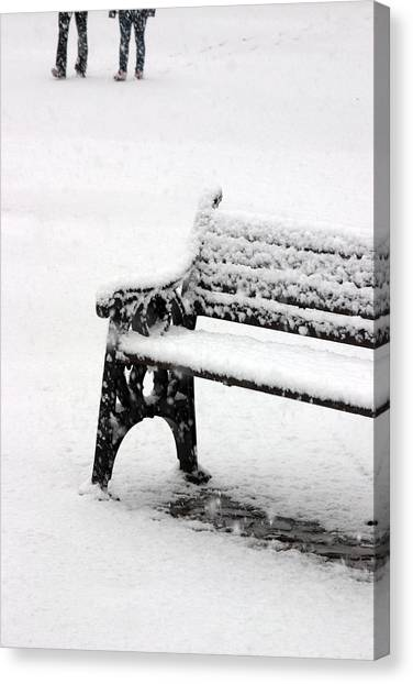 Cold Bench 2 Canvas Print by Jez C Self