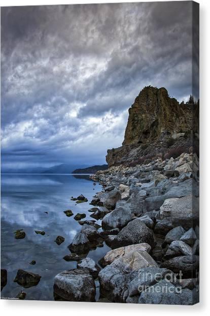 Cold Blue Cave Rock Canvas Print