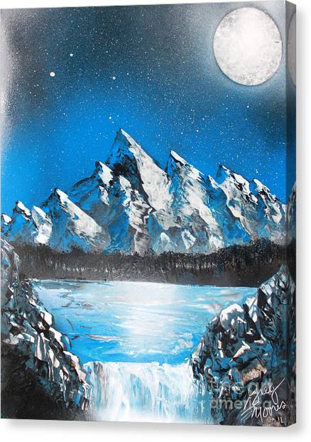 Cold Blue Canvas Print