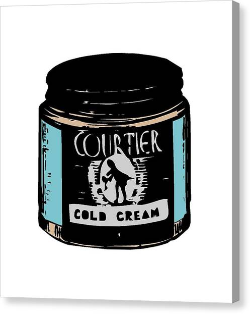 Canvas Print featuring the digital art Cold Cream by ReInVintaged