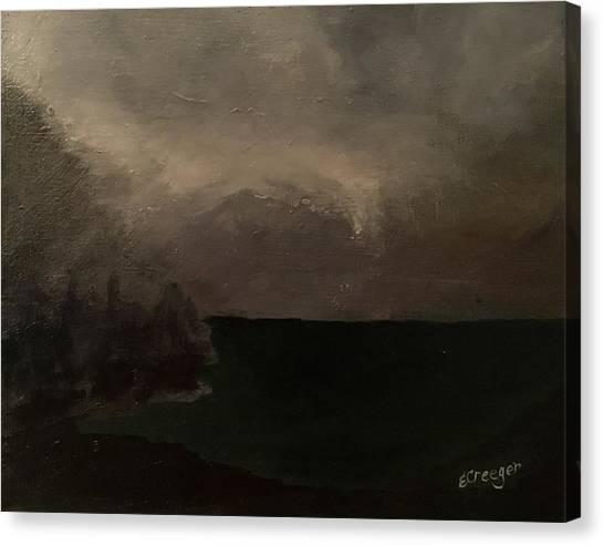 Cold Fog And Sea Canvas Print
