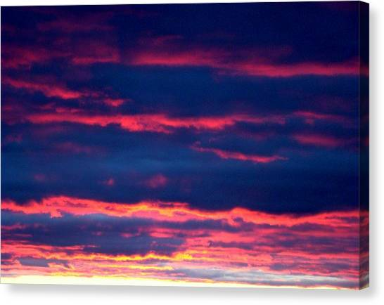 Cold Front Sunset One Canvas Print by Ana Villaronga