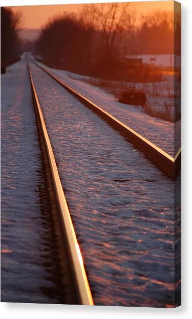 Cold Line Sunset Canvas Print