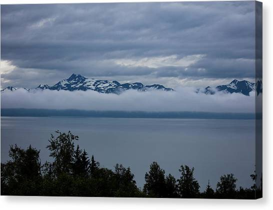 Cold Morning In Alaska Canvas Print