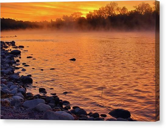 Cold November Morning Canvas Print