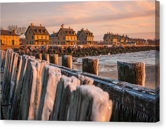 Cold Row Canvas Print