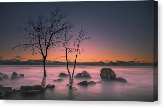 Cold Split Canvas Print