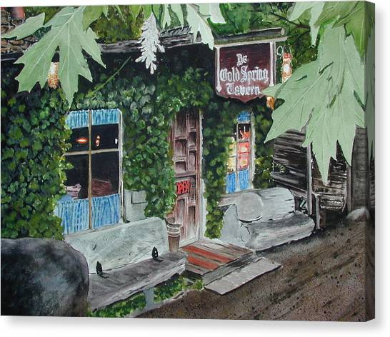 Cold Spring Tavern Canvas Print by Dwight Williams
