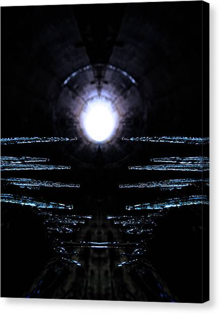 Stalactites Canvas Print - Cold Tunnel by Pelo Blanco Photo
