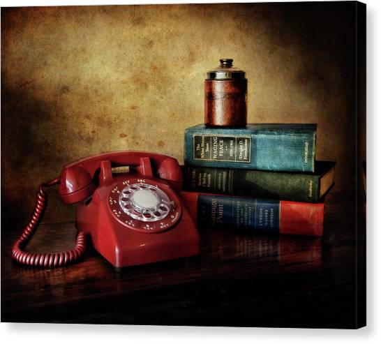 Lyndon Johnson Canvas Print - Cold War Red Telephone by David and Carol Kelly