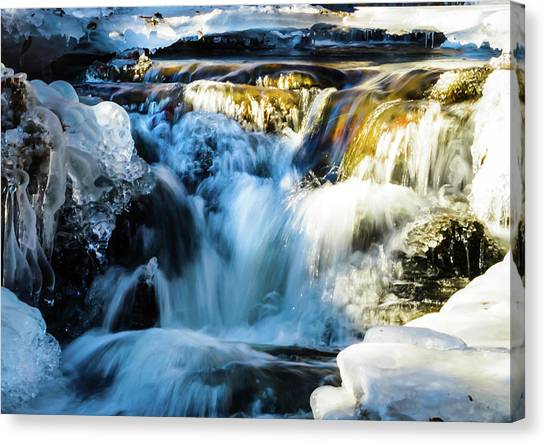 Canvas Print featuring the photograph Cold Water Fall by Robert McKay Jones