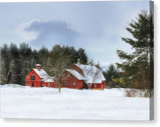 Cold Winter Days In Vermont Canvas Print