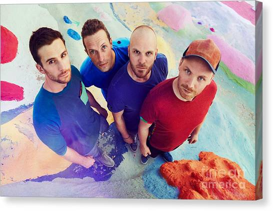 Coldplay Canvas Print - Coldplay by Dee Art