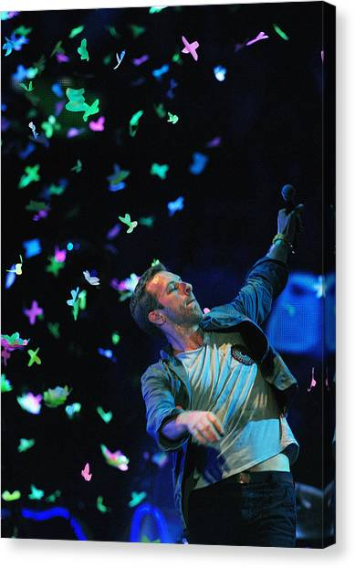 Coldplay Canvas Print - Coldplay1 by Rafa Rivas