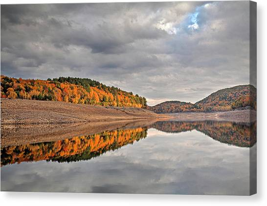 Colebrook Reservoir - In Drought Canvas Print