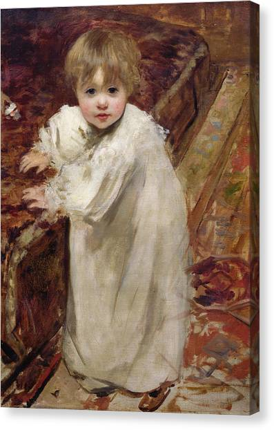 Colette Canvas Print - Colette's First Steps by Henri Gervex
