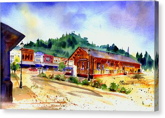 Colfax Rr Junction Canvas Print