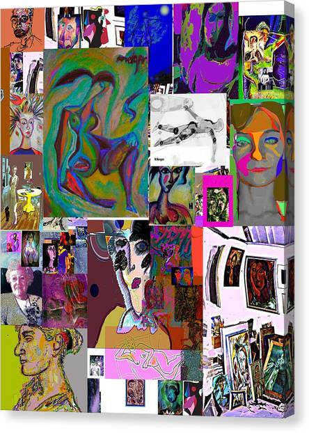 Collage 9 Canvas Print by Noredin Morgan