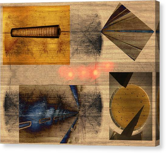 Collage - Cle Airport Canvas Print