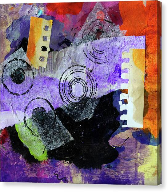 Torn Paper Collage Canvas Print - Collage No 1 by Nancy Merkle