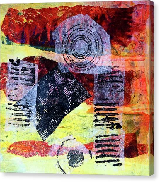 Torn Paper Collage Canvas Print - Collage No. 3 by Nancy Merkle