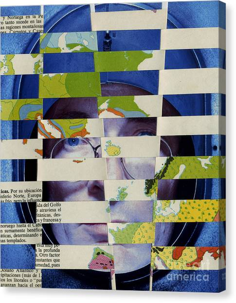 Collage Verso Canvas Print