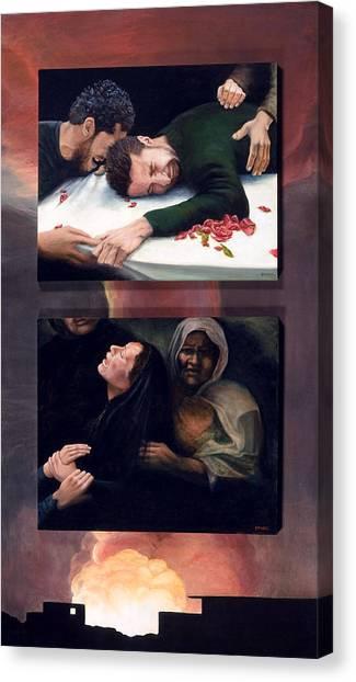 Collateral Damage Canvas Print by Nancy  Ethiel