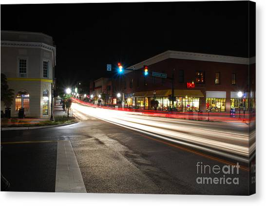 Virginia Polytechnic Institute And State University Virginia Tech Canvas Print - College Avenue by Clark DeHart
