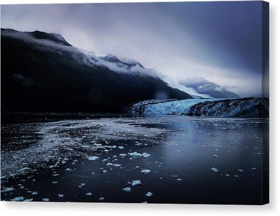 Canvas Print featuring the photograph College Fjord by Lucian Capellaro