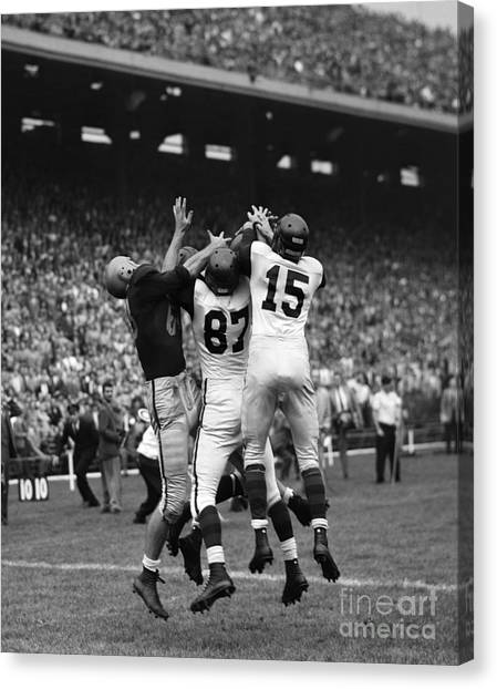 Brown University Canvas Print - College Football Game, C. 1950s by H. Armstrong Roberts/ClassicStock