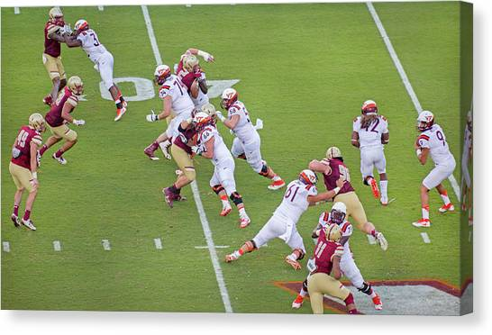 Boston College Canvas Print - College Football Vt And Boston College by Betsy Knapp