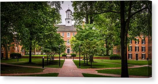 Ohio University Canvas Print - Ohio University College Green by Robert Powell