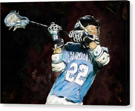 College Lacrosse 12 Canvas Print by Scott Melby