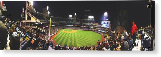 San Diego Padres Canvas Print - College Night At Petco Park by Jeremy Tejada