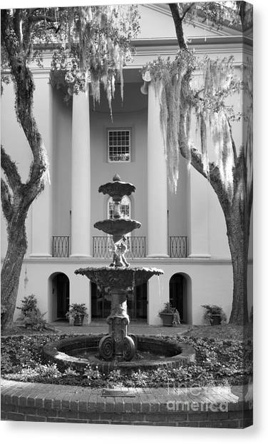 University Of South Carolina Canvas Print - College Of Charleston Fountain by University Icons
