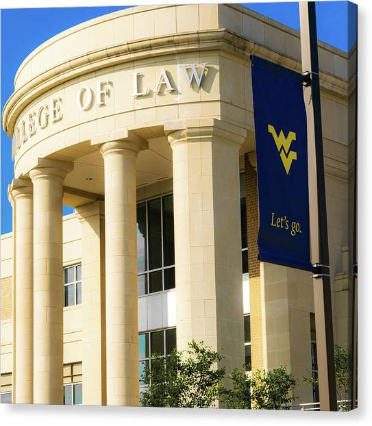 West Virginia University Wvu Canvas Print - College Of Law by Aaron Geraud