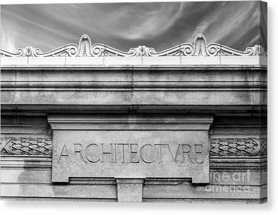 College Of Wooster Frick Hall Architecture Canvas Print by University Icons