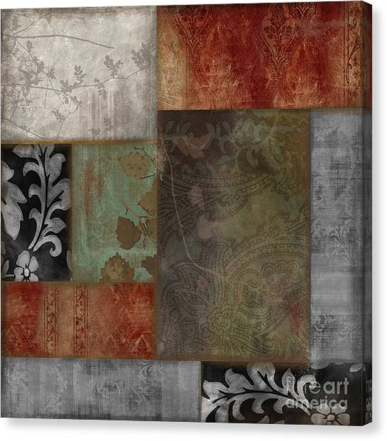 Silver Leaf Canvas Print - Collette I by Mindy Sommers
