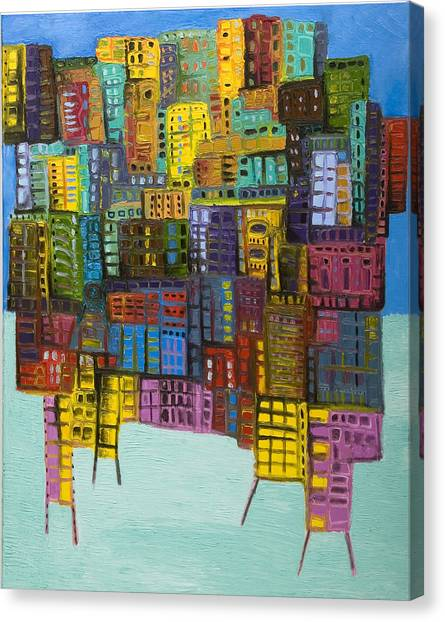 Collide Canvas Print by Maria Curcic