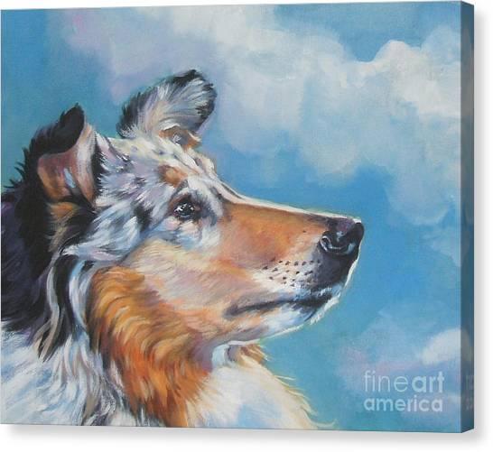 Collie Canvas Print - Collie Blue Merle Portrait by Lee Ann Shepard
