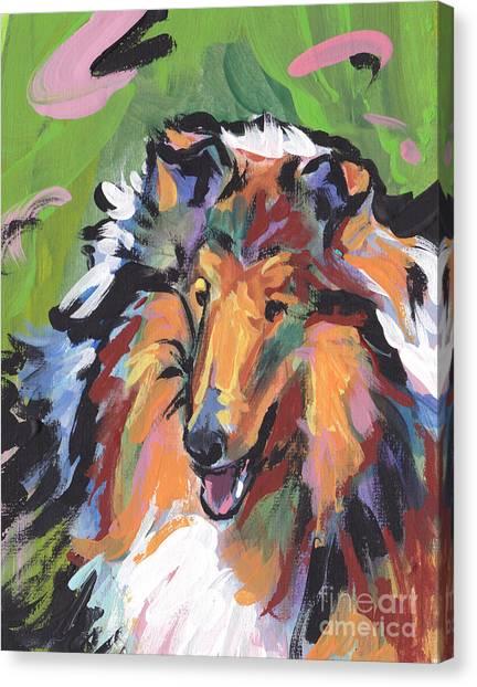 Collie Canvas Print - Collie Folly by Lea S
