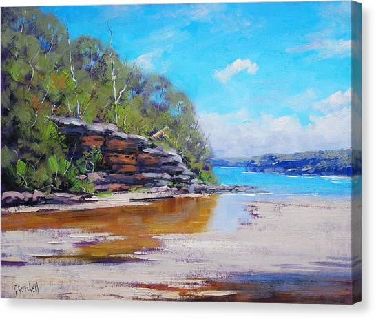 Sydney Harbour Canvas Print - Collins Beach Manly by Graham Gercken