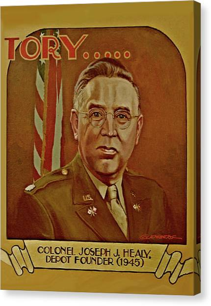 Colonel Joseph J. Healy Canvas Print