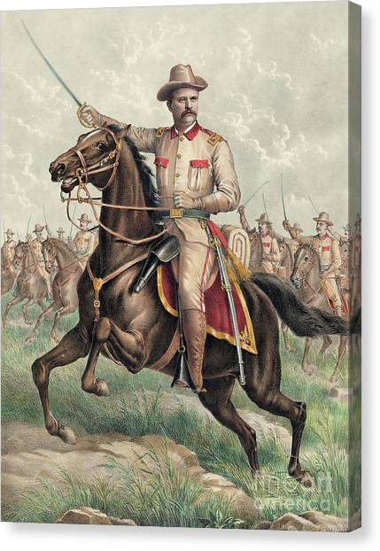 Theodore Roosevelt Canvas Print - Colonel Theodore Roosevelt by American School