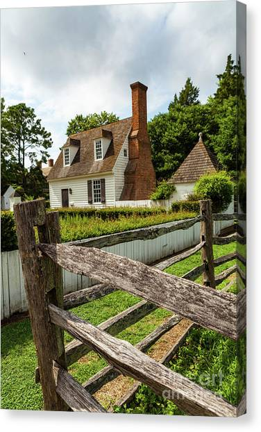 Colonial America Home Canvas Print