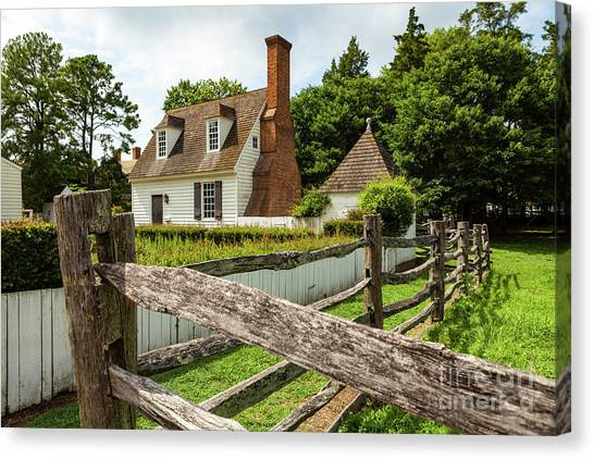 Colonial America House Canvas Print