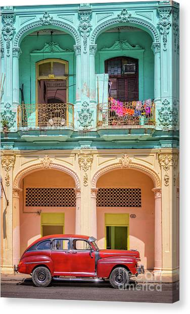 Cuba Canvas Print - Colonial Architecture by Delphimages Photo Creations